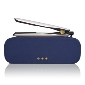 ghd gold hair straightener in iridescent white